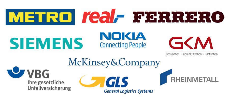 Auswahl an Partnern aus der Industrie